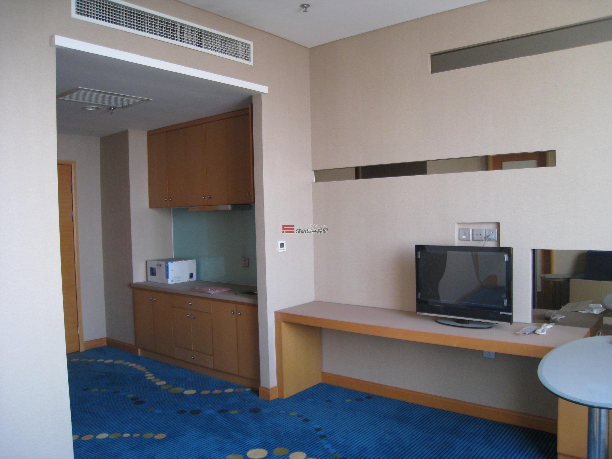 沈阳公寓出租房源,87平,酒店式公寓,精装修,办公设施